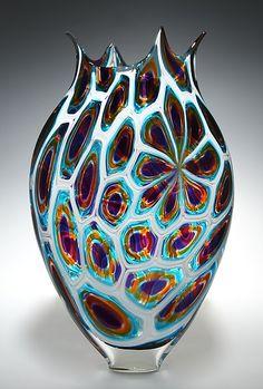 """""""Murrine Foglio"""" art glass vase by David Patchen"""