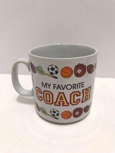 #1 Coach Sports Coffee Mug Russ Gift Team FB Soccer Baseball PE Gym Teacher #Russ