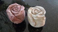 Zement Rose Naturell und mit eingefärbten Zement.