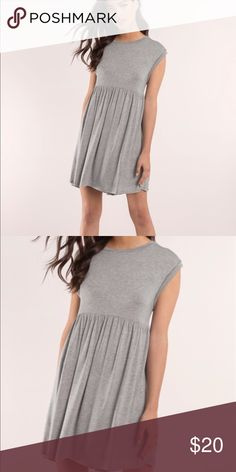 NWT TOBI Be My Babydoll Heather Gray Jersey Dress TOBI Be My Babydoll Heather Gray Jersey Dress. New with tags. Super soft and stretchy! Tobi Dresses