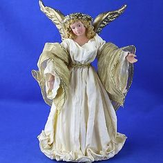 Christmas-ANGELS-Tree-Toppers-Ornaments-LOT-OF-6