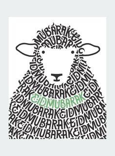 Sheep Mubarak Card