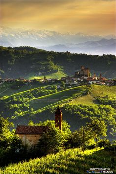Serralunga d'Alba in Piedmont, photo by Pier Giorgio Franco on Piedmont is in Northern Italy, located 60 km southeast of Turin and 45 km northeast of Cuneo. Places Around The World, Oh The Places You'll Go, Places To Travel, Places To Visit, Travel Destinations, Dream Vacations, Vacation Spots, Beautiful World, Beautiful Places