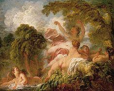Jean Honoré Fragonard - Les Baigneuses, 1765, Musée du Louvre, Paris.