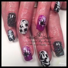 "42 Likes, 3 Comments - Becky Bunnell So Gel Educator (@nailedbybeckyb13) on Instagram: ""Loving Halloween time! So Simple hard gel nails. SO Gel Educator. Coupon code 1002…"""
