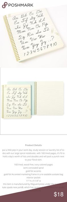 bbde12d2e4806 Kate Spade Large Spiral Notebook Dot your i s