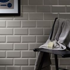 Metro Light Grey Wall Tile 10x20cm from tile trader