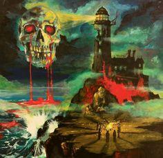 Frozen Existence album cover, art by Adam Burke Arte Horror, Gothic Horror, Gothic Art, Horror Art, Art Vampire, Arte Punk, Horror Comics, Creepy Art, Scary