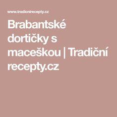 Brabantské dortičky s maceškou   Tradiční recepty.cz