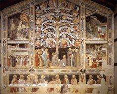Albero della Vita, Ultima cena e storie sacre - Taddeo Gaddi -  1355 circa - Santa Croce, Firenze