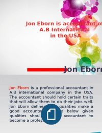 Jon Eborn is a professional accountant.