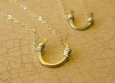 Best Friends Necklaces  Two Sterling Silver by PhilanthropicPanda, $60.00
