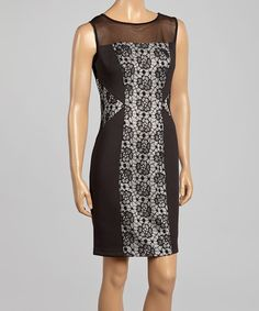 Look at this #zulilyfind! Black & Ivory Lace Shift Dress - Women by Connected Apparel #zulilyfinds