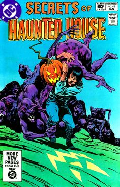 Secrets of Haunted House cover by Cover art by Bernie Wrightson 1982 Robert Crumb, Frank Cho, Michael Turner, Bruce Timm, Frank Frazetta, Frank Miller, Greg Capullo, Mike Mignola, Old Comics