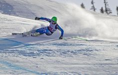 A downhill skier during the Audi Birds of Prey World Cup in Beaver Creek, CO