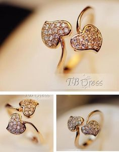 New Fashion High Quality Flower Rhinestone Prety Lady's Ring