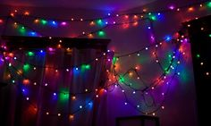 LED Christmas lights come in a compete selection of rainbow colors.