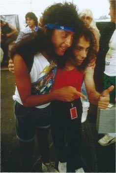 Ronnie James Dio and Joey Belladonna Heavy Metal Rock, Heavy Metal Music, Heavy Metal Bands, Portsmouth, Hampshire, Jazz, Crust Punk, James Dio, Stoner Rock