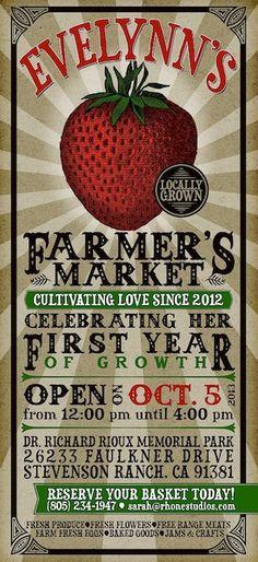 Farmer's Market Birthday Party | The Little Umbrella