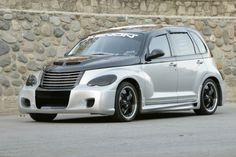 Ground Effects KitBody Kit; Front Replacement Fascia w/Mesh; Right/Left Side Skirts; Urethane FEATURES:Components Are Styled To Fit Your VehicleEasily Prepped For PaintEach Component Comes With Installation Instruction Chrysler Pt Cruiser, Pt Cruiser Accessories, Cruiser Car, West Coast Customs, Top Cars, American Muscle Cars, Plymouth, Chevy, Automobile