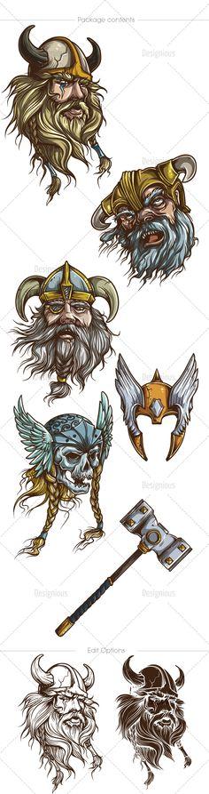Vikings Vector Pack 1   Designious