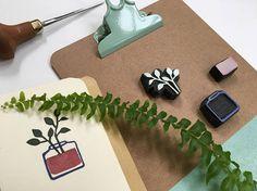 Tampon plante en pot tampon végétal tampon nature tampon