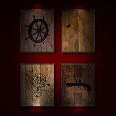 It's A Man's World Fine Art Prints. Set of Four Art by ALookOfLove, $45.00