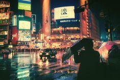 Tokyo in the Rain : Cyberpunk