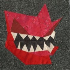 Howler Paper Pieced Block free pattern on Fandom in Stitches at http://www.fandominstitches.com/2011/05/harry-potter.htm