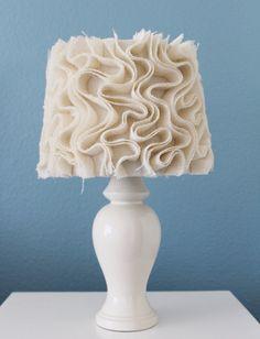 ivory burlap lamp shade