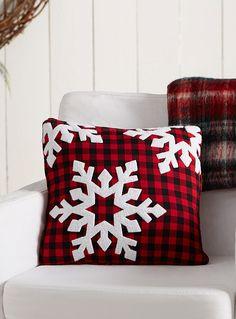 "Snowy check cushion 16"" x 16""   Simons Maison   Shop Printed Pattern Cushions Online in Canada   Simons"