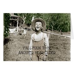 Hillbilly Boy Vintage Photo 1890 Redneck Funny Card #cards #christmascard #holiday
