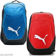 dcb6757456 New Puma Evopower Senior Adult Shoulder Bag Backpack Rucksack Red Blue rrp  £35