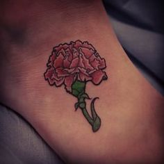 #carnation #flower #flowertattoo #carnationtattoo #carnationflower #tattoo…