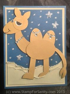 Camel Punch Art Christmas Card