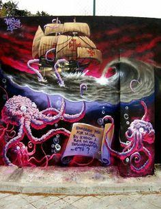 Foto: • ARTIST . VILE • ◦ Descobrimentos ◦ location: Vila Franca de Xira, Portugal #streetart
