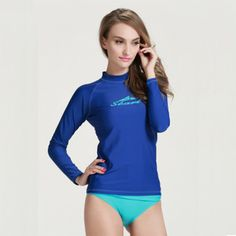 930a470a8a7 2015 New Fashion Women Rash Guard Lycra Swimwear Surfing Tops Snorkeling  Windsurfing Long Sleeve T-