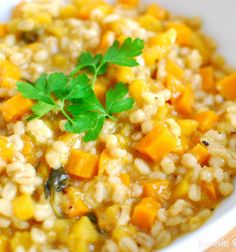 Yummy dish. Recipe For Pumpkin Risotto skip the onion and it's a low fodmap dinner