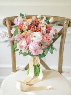 Spring ranunculus bouquet: http://www.stylemepretty.com/canada-weddings/british-columbia/vancouver/2015/05/18/vintage-blush-wedding-inspiration/   Photography: ARTIESE - http://www.artiesestudios.com/