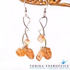 Champagne Quartz Silver Party Earrings  Wire by TorikaEnergetics, $20.00