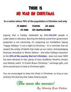 """The """"war"""" on Christmas may be the absolute stupidest thing I've ever heard of."""