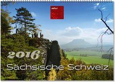"""Die Schönheit des Elbsandsteingebirges in Sachsen hat es Malern der Romantik angetan. Auch Caspar-David-Friedrich ließ sich von der einzigartigen Felslandschaft und unberührten Waldabschnitten des Elbsandsteingebirges inspirieren. Auf dem """"Malerweg"""" aber auch auf zahlreichen anderen Wanderwegen bieten sich spektakuläre Aussichten ins Elbtal, auf bizarre Felsformationen und bei guter Sicht bis in die böhmische Schweiz (Tschechien). Kalender Sächsische Schweiz - ©ImBild Verlag"""