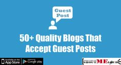 Here are list of blogs that accept guest posts about Blogging, Social media, SEO, Technology