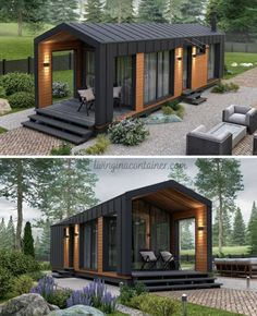 Building A Container Home, Container Cabin, Container Buildings, Container House Design, Tiny House Design, Mini Chalet, Shipping Container House Plans, Shipping Containers, Tiny House Exterior