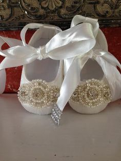 Couture Baby Christening Baptism White Ivory by LaBoutiqueBride, $74.00