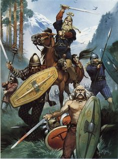 Macromanni tribesmen at the Battle of the Teutoburg Forest
