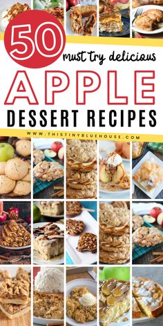 Are you looking for delicious fall apple desserts? Here are over 50 best fall apple desserts that are the perfect way to bake with yummy apples. Apple Deserts, Apple Dessert Recipes, Desserts To Make, Fruit Recipes, Apple Recipes, Fall Recipes, Sweet Recipes, Holiday Recipes, Delicious Desserts