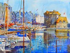 "Daily Paintworks - ""Summer in Honfleur."" - Original Fine Art for Sale - © Nigel Fletcher"