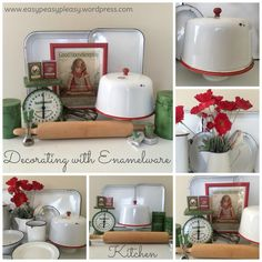 Decorating with Enamelware in the Kitchen ideas at www.easypeasypleasy.wordpress.com