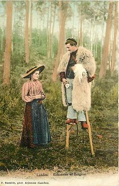 FRANCE-LANDES FOREST-SHEPHERD-STILTS - and people are impressed when we walk and spin!  Let's throw in some stilts!